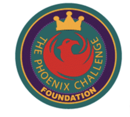 Circle Logo with image of a phoenix and a crown above it and the words The Phoenix Challenge Foundation around it